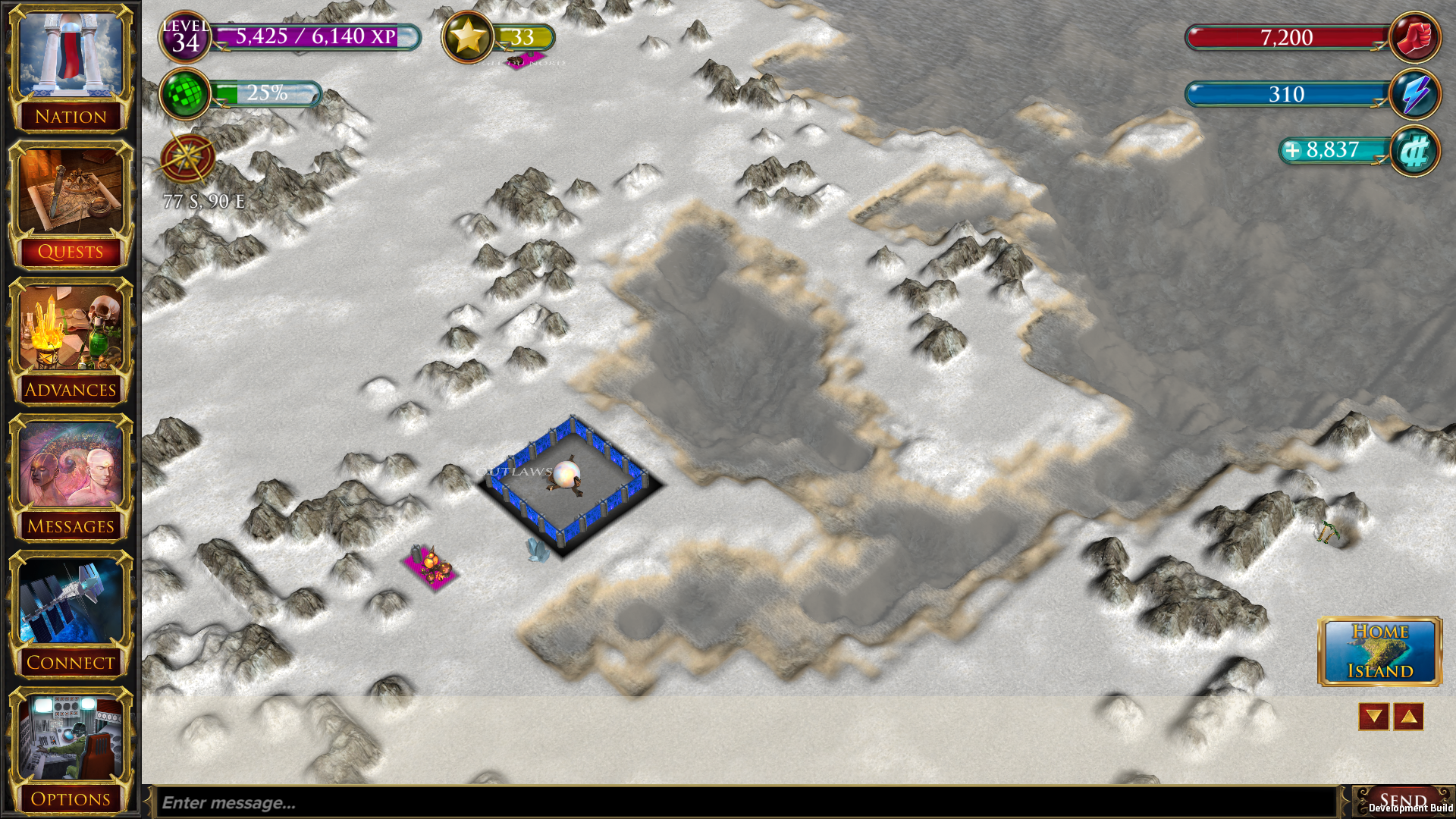 Early development screenshot from the new War of Conquest