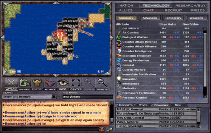 Sceenshot from the original version of War of Conquest