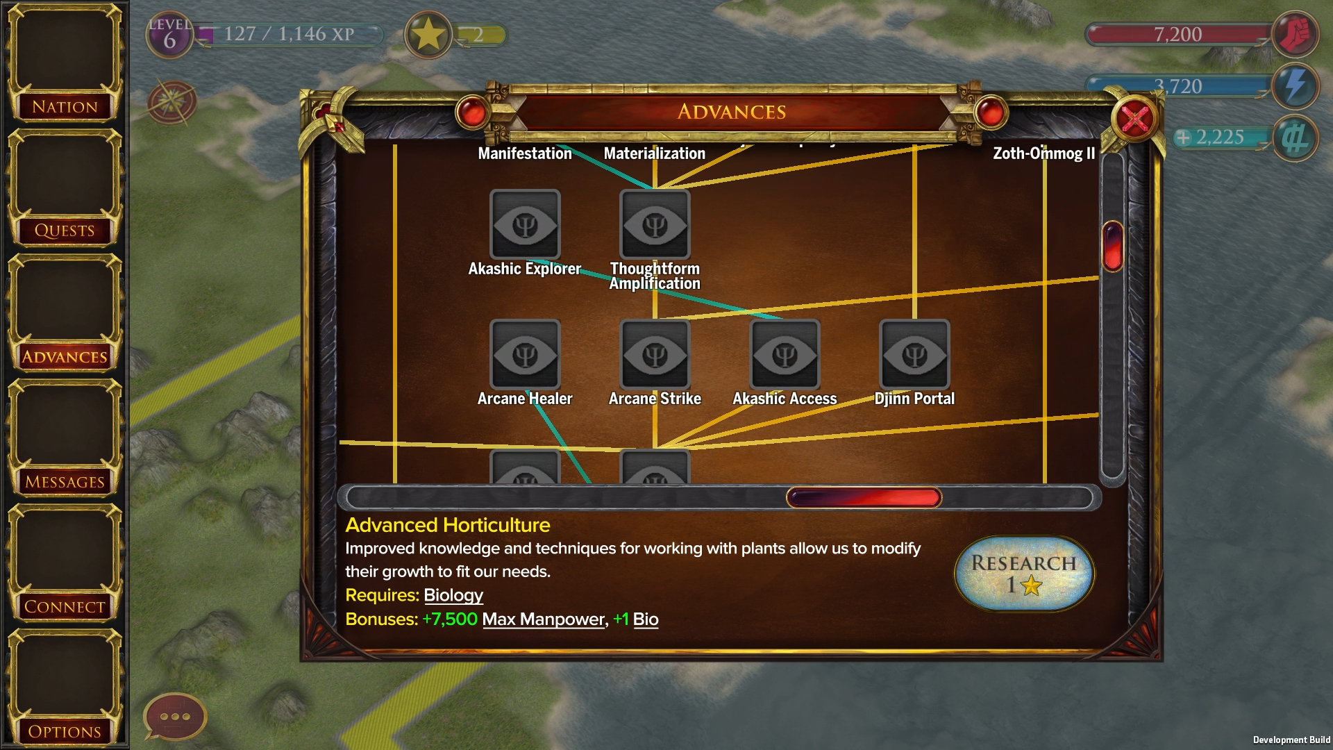 Development screenshot from the new War of Conquest