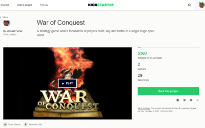 War of Conquest Kickstarter goes live!